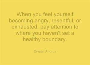 Boundaries Need to be Set