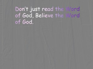 Believe-the-Word